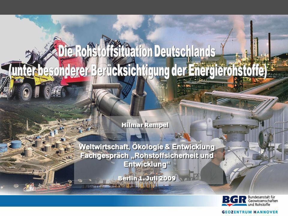 Hilmar Rempel Weltwirtschaft, Ökologie & Entwicklung Fachgespräch Rohstoffsicherheit und Entwicklung Berlin 1. Juli 2009 Weltwirtschaft, Ökologie & En