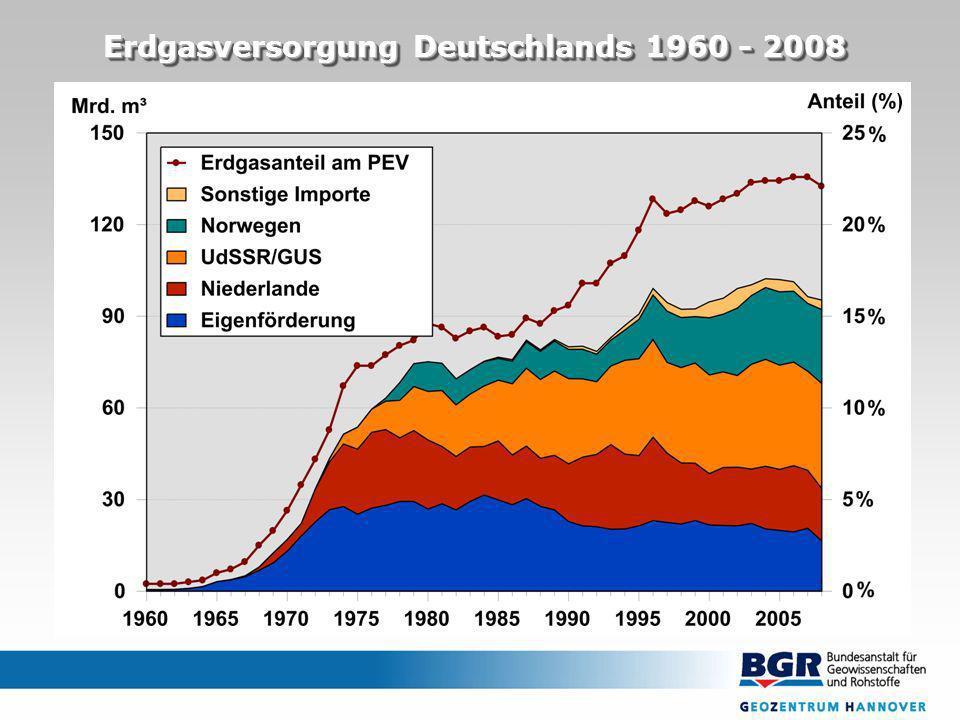 Erdgasversorgung Deutschlands 1960 - 2008