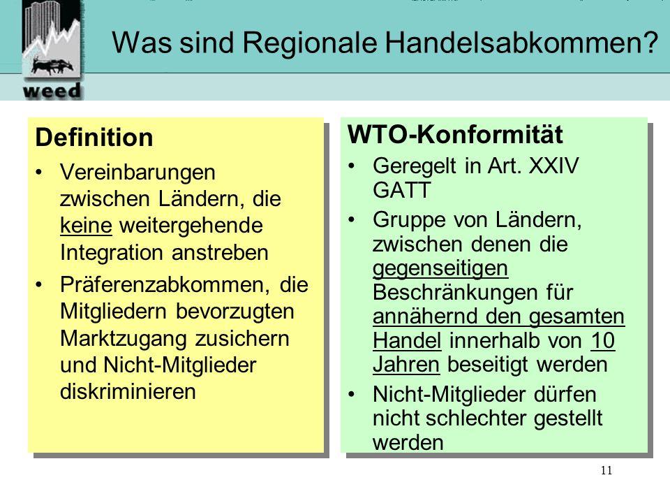 11 Was sind Regionale Handelsabkommen.