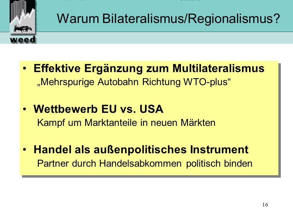 16 Warum Bilateralismus/Regionalismus.