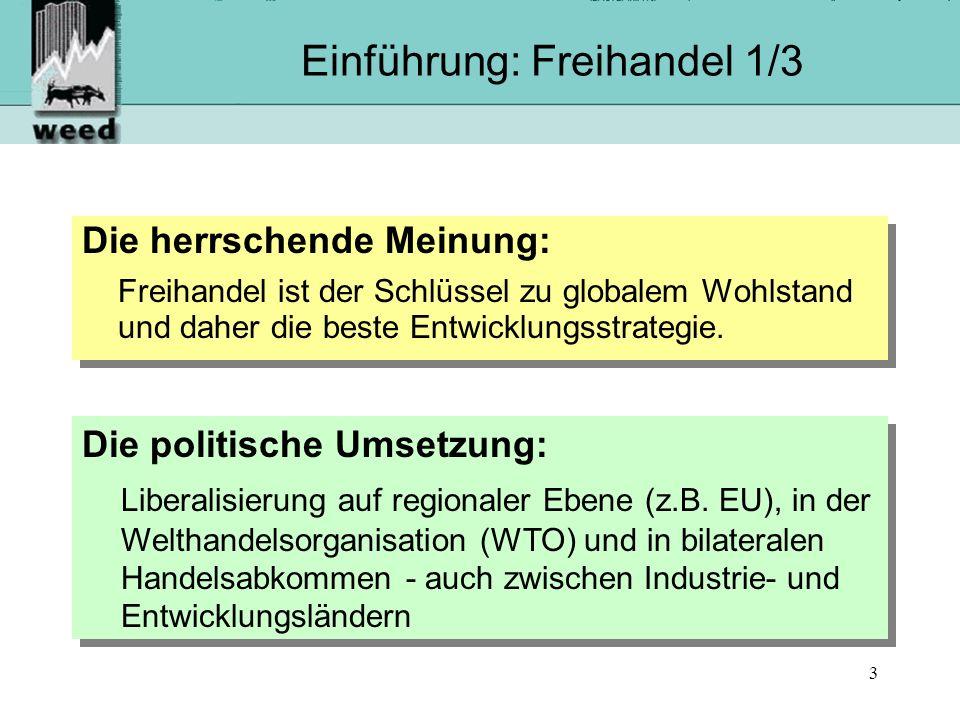 14 Laufende Verhandlungen der EU Staatengruppe (Verhandlungsstart) Verhandlungs- ziel Geplanter Abschluss AKP-Staaten (2002)WPA2007 Golfrat (1990)FTA2004.