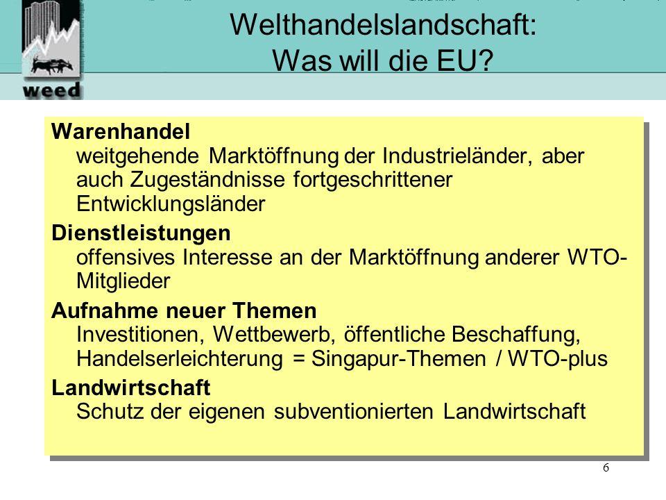 6 Welthandelslandschaft: Was will die EU.