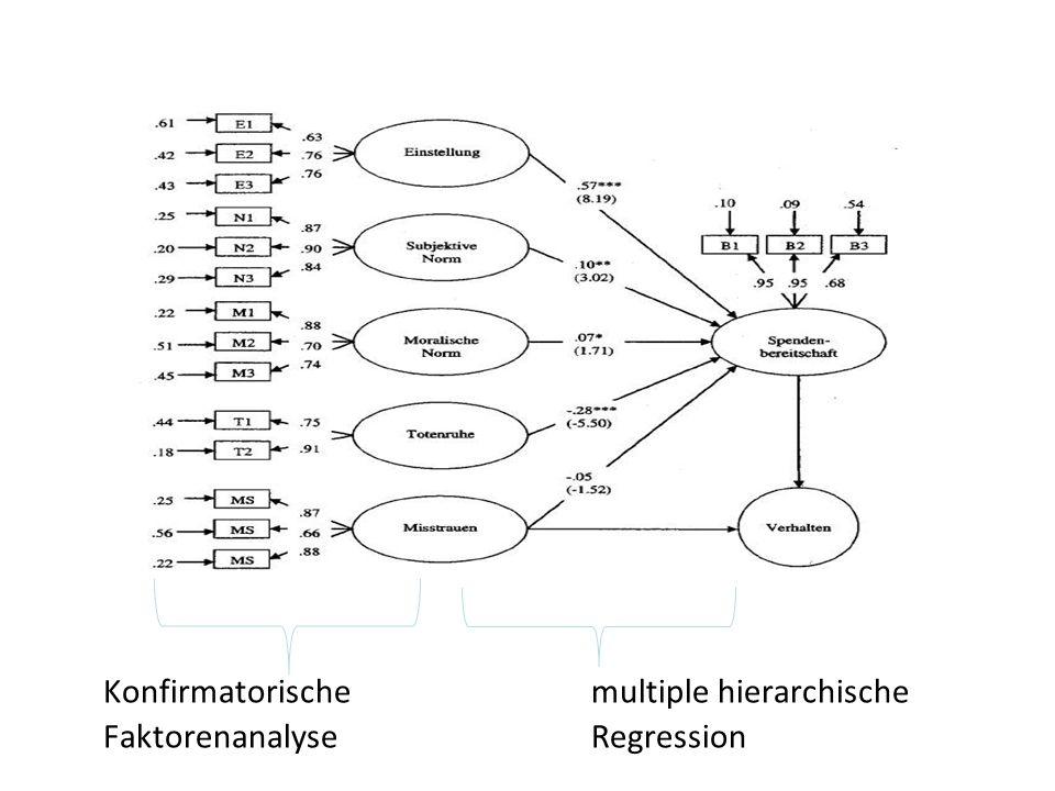 Konfirmatorische multiple hierarchische FaktorenanalyseRegression
