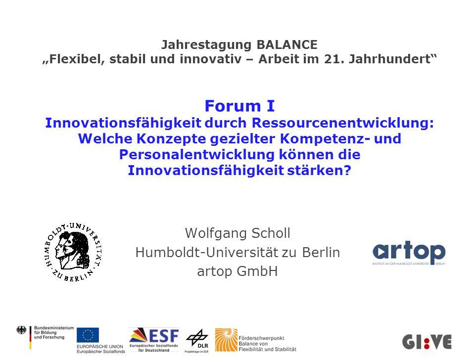Jahrestagung BALANCE Flexibel, stabil und innovativ – Arbeit im 21.