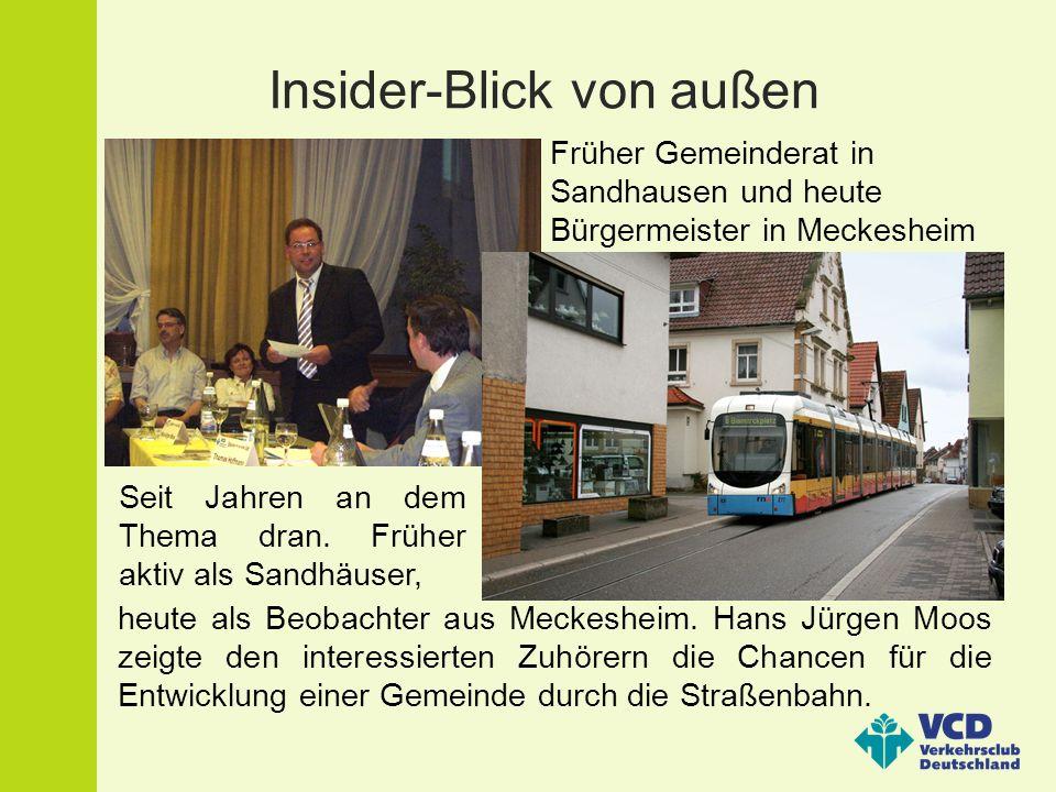 Finanzierung: nicht leicht aber machbar Der SPD-Kreisrat und Baubürgermeister von Wiesloch zeigte den Zuhörern, wie eine Finanzierung des Straßenbahnringes möglich wäre.