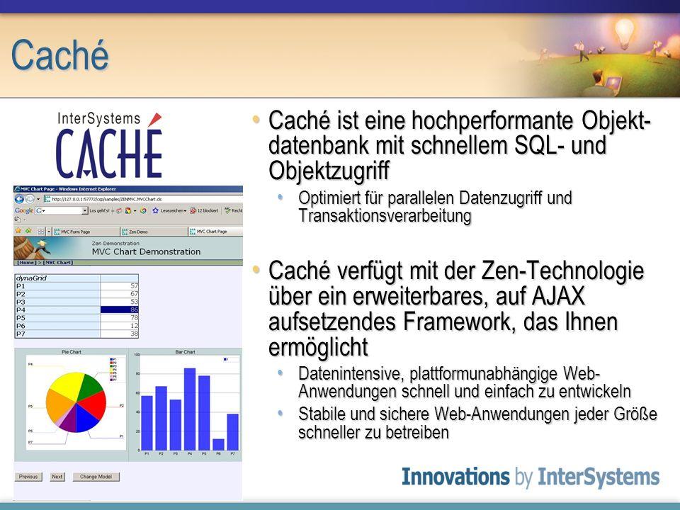 Caché Caché ist eine hochperformante Objekt- datenbank mit schnellem SQL- und Objektzugriff Caché ist eine hochperformante Objekt- datenbank mit schne