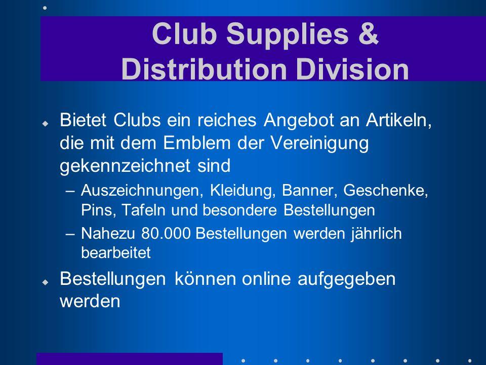 u Bietet Clubs ein reiches Angebot an Artikeln, die mit dem Emblem der Vereinigung gekennzeichnet sind –Auszeichnungen, Kleidung, Banner, Geschenke, P