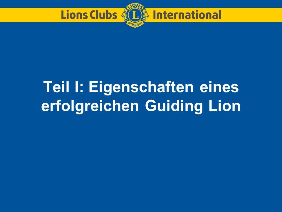 Teil I: Eigenschaften eines erfolgreichen Guiding Lion