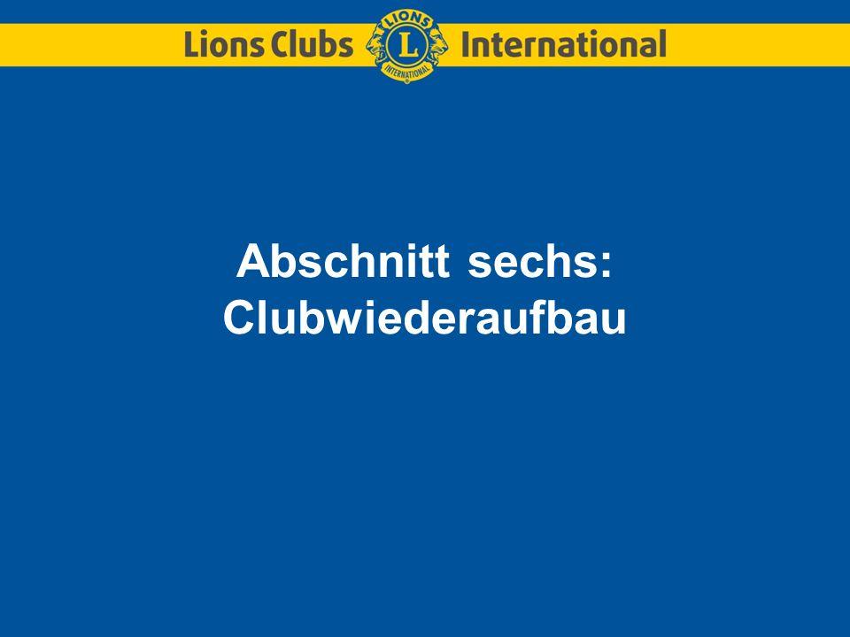 Abschnitt sechs: Clubwiederaufbau