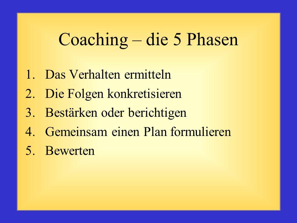 Eigenschaften effektiver Trainer Sie schaffen ein positives und angenehmes Umfeld Sie bauen auf den Stärken der jeweiligen Person auf, um Verbesserung
