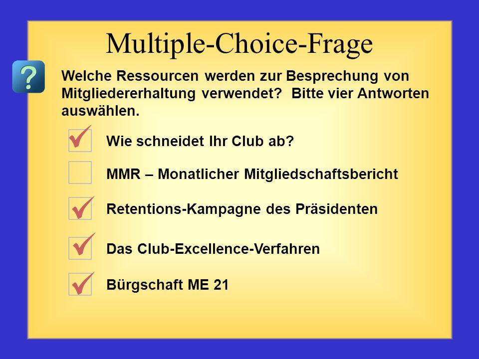 Ich bin ein Lion Drei-Personen-Mitgliedschaftsausschuss MMR- Monatlicher Mitgliedschaftsbericht Lions bewegen etwas Bürgschaft ME 21 Multiple-Choice-F