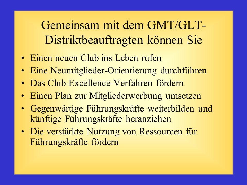 Verantwortungsbereiche des Zonenleiters (Forts. S. 4) alle Clubs über Distrikt-, Multidistrikt- und internationale Programme informieren mit dem Distr