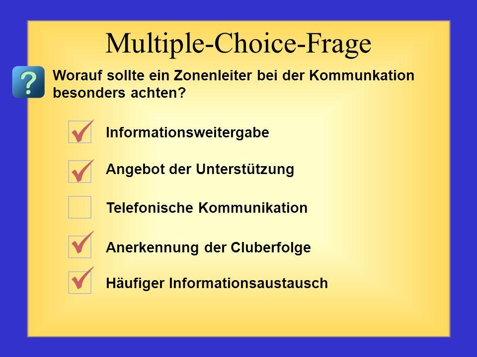 Redner und Zuhörer Wortwahl Tonfall Standort Körpersprache Multiple-Choice-Frage Welche Faktoren spielen bei der Kommunikation eine Rolle? Bitte vier
