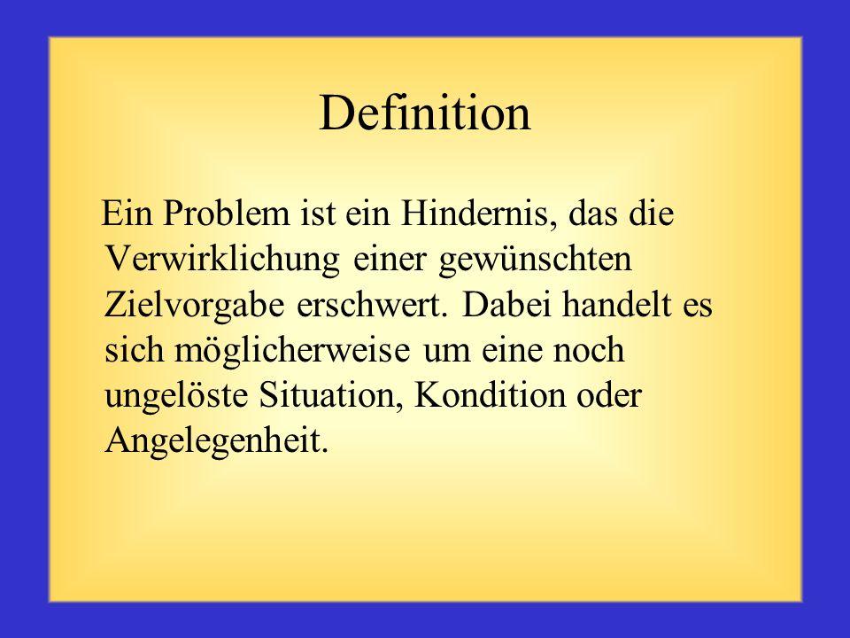 Problemlösung Wie können Sie dieses Problem lösen?