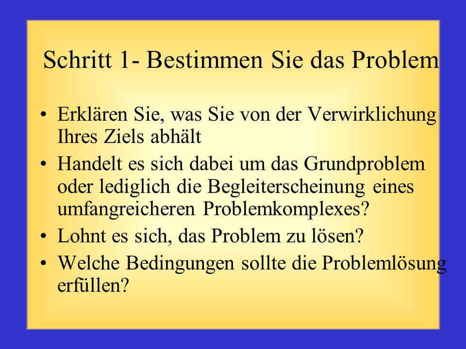 Problemlösungsprozess Problemlösung ist ein Denkprozess höherer Ebene, der angewandt wird, wenn eine Person oder Gruppe nicht weiß, wie man am besten