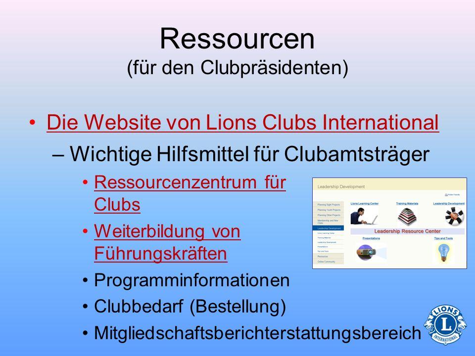 Ressourcen (für den Clubpräsidenten) Nachrichtenquellen –DIE LION-ZeitschriftDIE LION-Zeitschrift –Lions-NewswireLions-Newswire –Lions QuarterlyLions