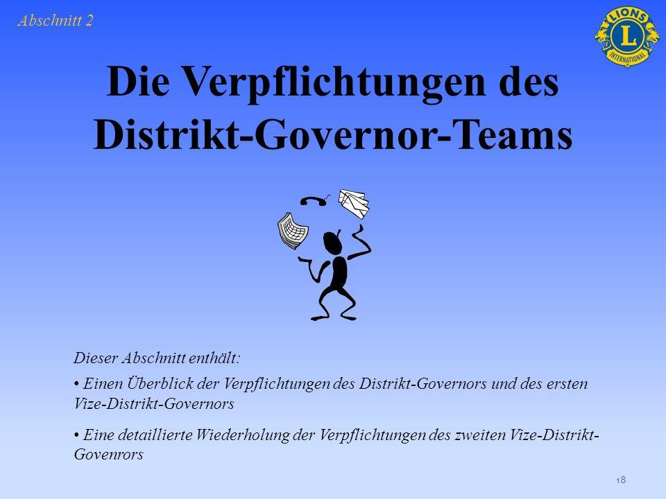 Welche der folgenden Möglichkeiten sind Vorteile einer teamorientierten Distriktführung? Klicken Sie einmal, um die richtigen Antworten anzuzeigen. 17