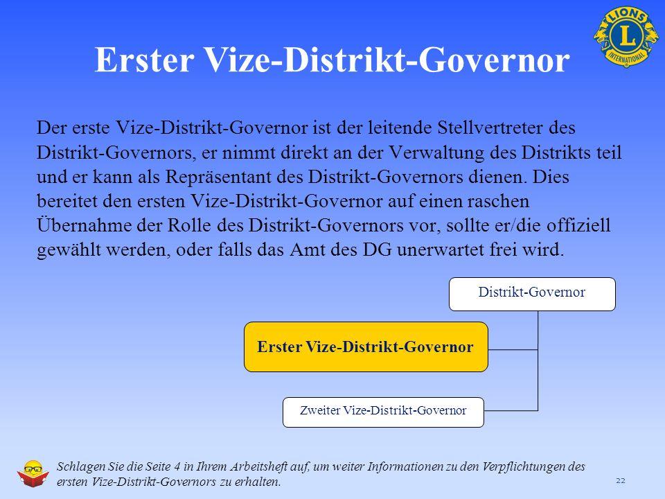Die aktuellesten Informationen zur Rolle und den Verpflichtung des Distrikt-Governors finden sie auf den folgenden Seiten der LCI-Webseite: Satzung un
