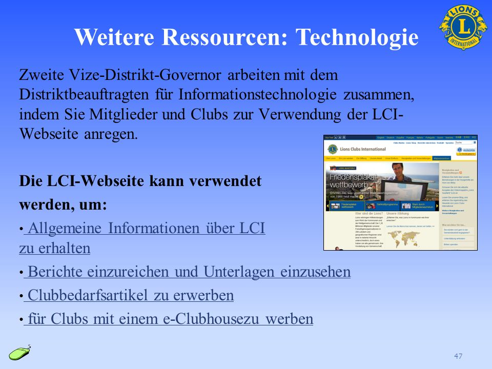 Weitere Ressourcen: LCIF Der zweite Vize-Distrikt-Governor und andere Mitglieder des Distrikt-Governor-Teams unterstützen den LCIF-Distriktkoordinator