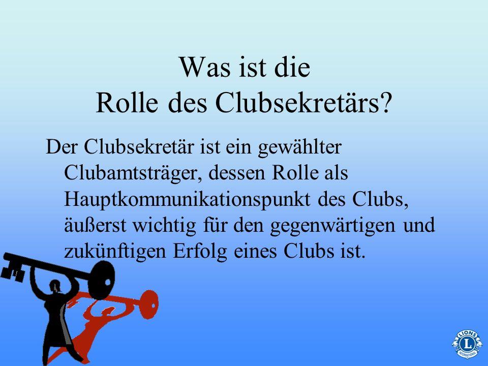 Was ist die Rolle des Clubsekretärs.