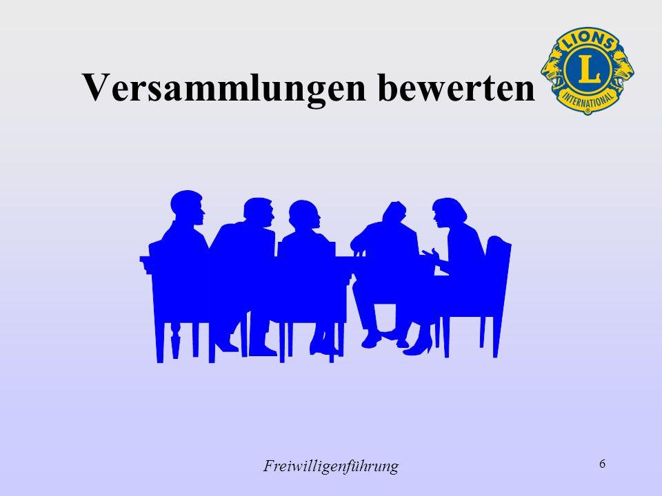 Freiwilligenführung 6 Versammlungen bewerten