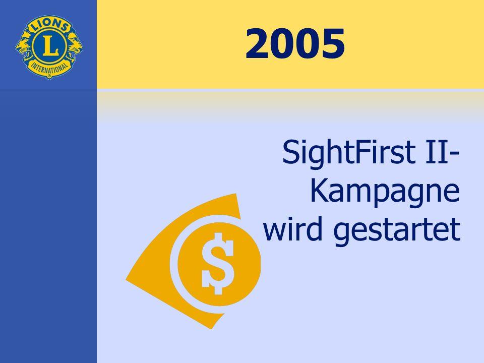 2005 SightFirst II- Kampagne wird gestartet