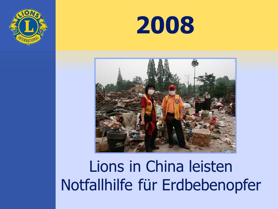 2008 Lions in China leisten Notfallhilfe für Erdbebenopfer