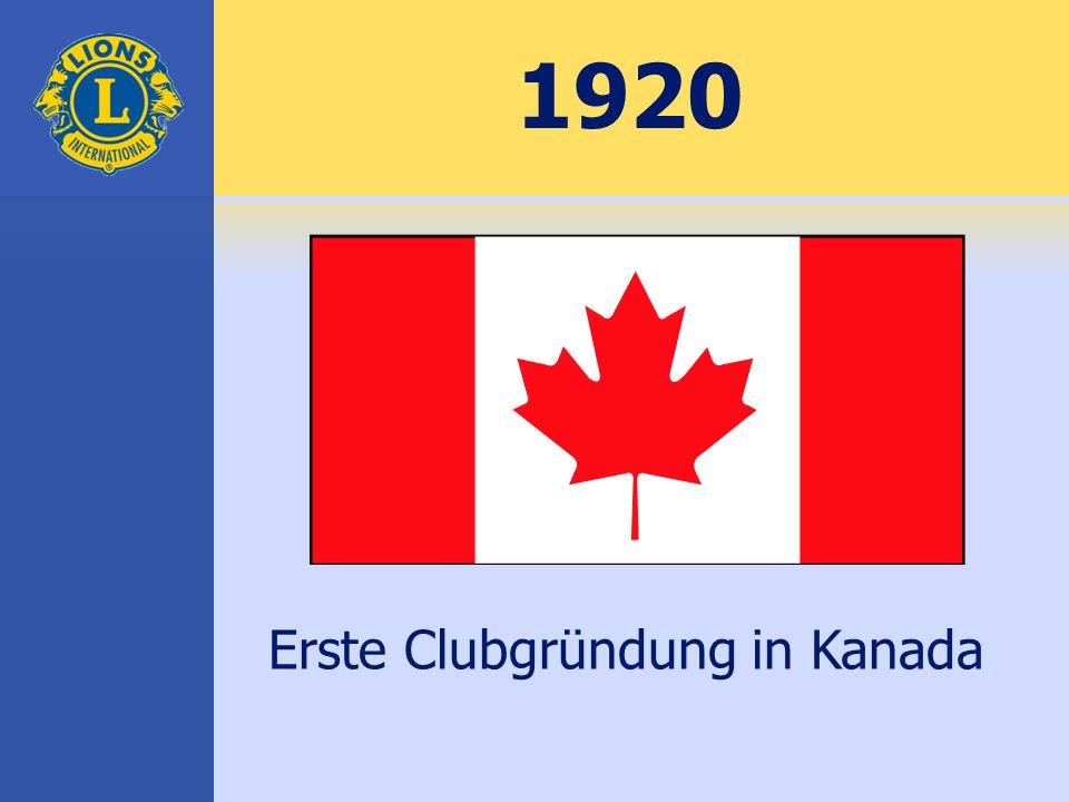 1920 Erste Clubgründung in Kanada