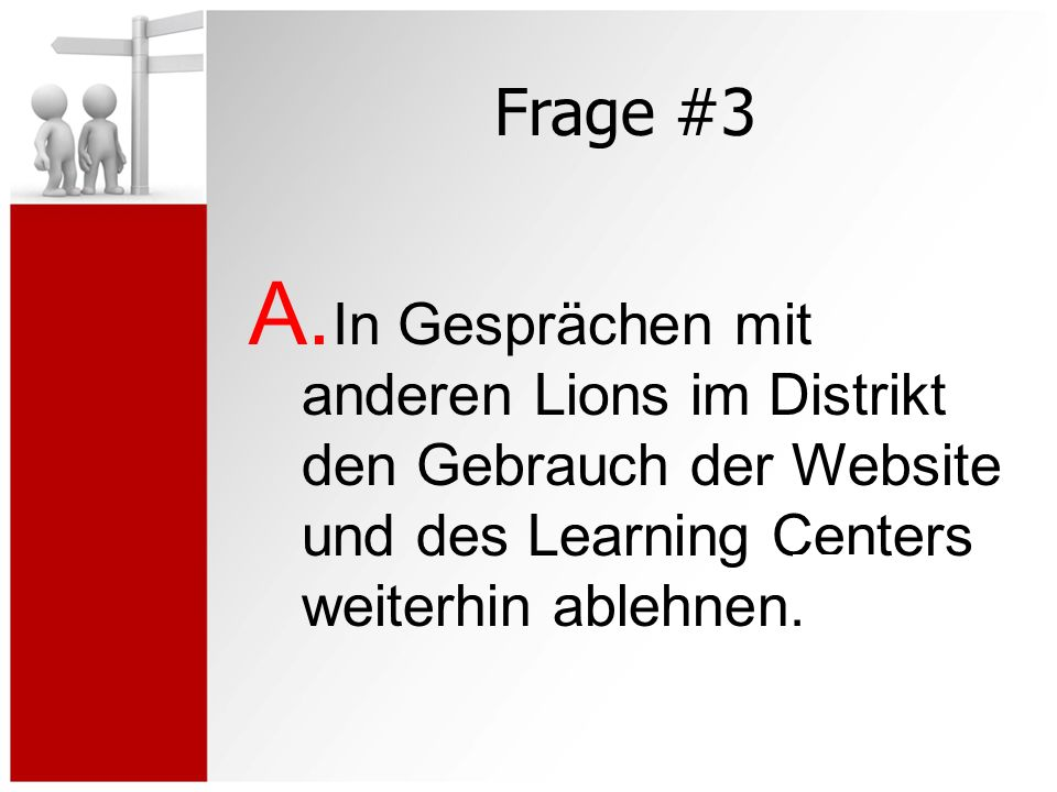 Frage #3 A.