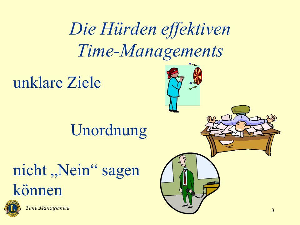 Time Management 4 Die Hürden effektiven Time-Managements Unterbrechungen noch mehr Unterbrechungen Untätigkeit