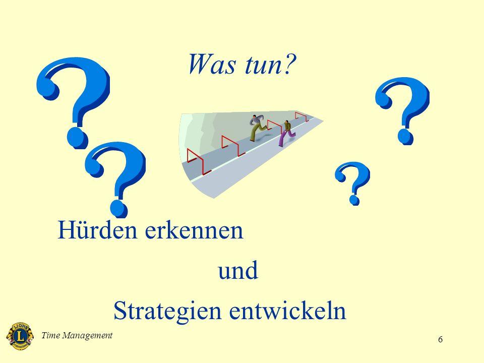 Time Management 6 Was tun? Hürden erkennen und Strategien entwickeln