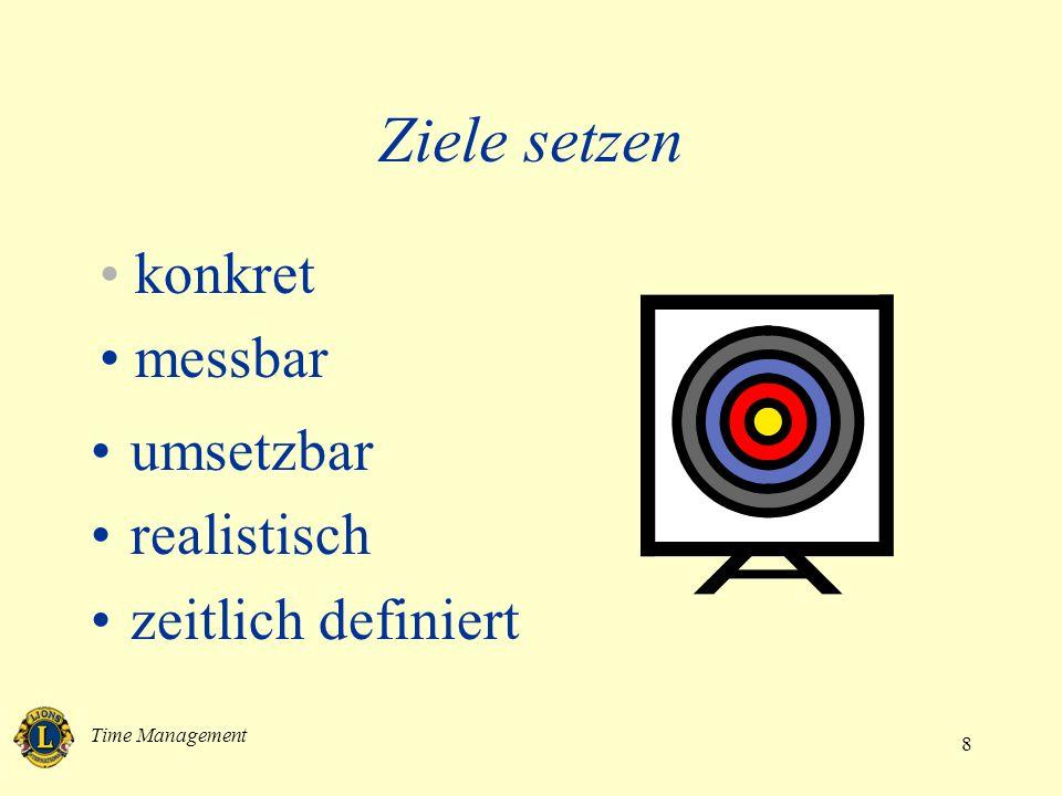 Time Management 8 umsetzbar realistisch zeitlich definiert Ziele setzen konkret messbar