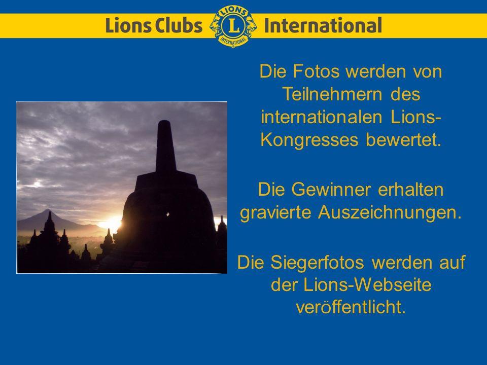 Die Fotos werden von Teilnehmern des internationalen Lions- Kongresses bewertet.