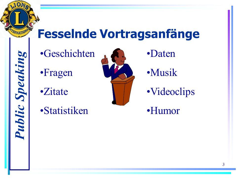 Public Speaking 3 Fesselnde Vortragsanfänge Geschichten Fragen Zitate Statistiken Daten Musik Videoclips Humor