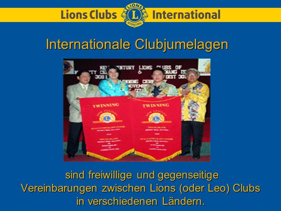 sind freiwillige und gegenseitige Vereinbarungen zwischen Lions (oder Leo) Clubs in verschiedenen Ländern.