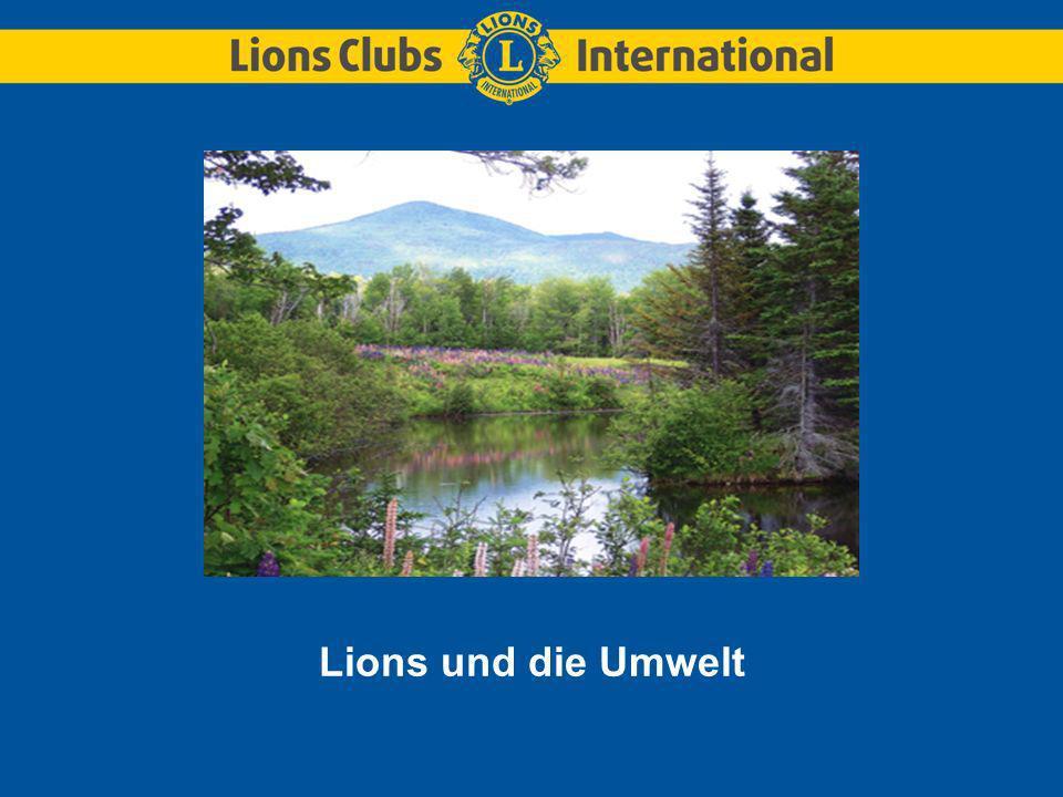 Im Jahr 1972 gaben die Lions ein Bekenntnis zum Schutz des Planeten ab.