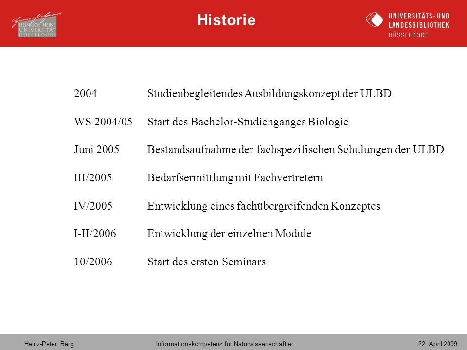 Heinz-Peter Berg Informationskompetenz für Naturwissenschaftler 22.