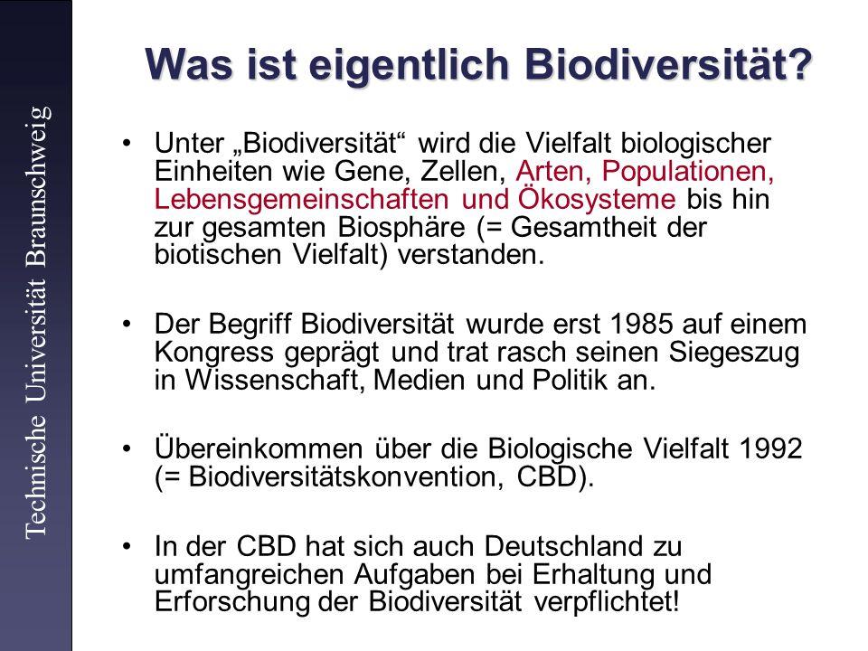 Was ist eigentlich Biodiversität? Unter Biodiversität wird die Vielfalt biologischer Einheiten wie Gene, Zellen, Arten, Populationen, Lebensgemeinscha