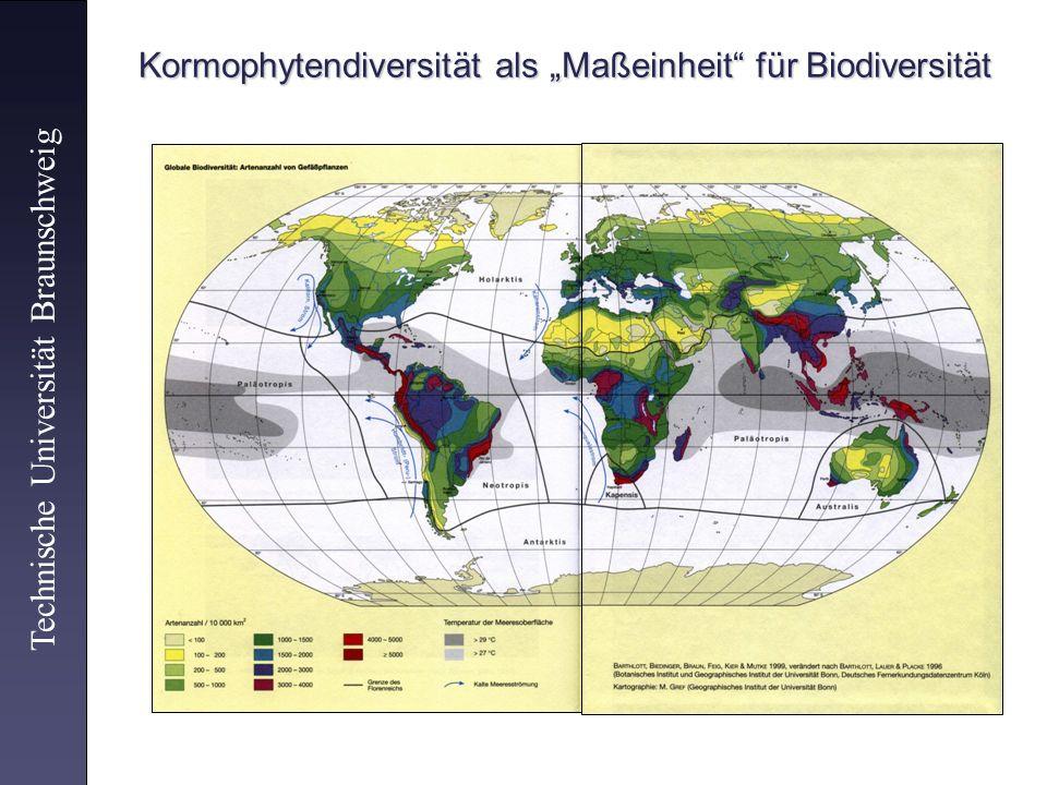 Kormophytendiversität als Maßeinheit für Biodiversität