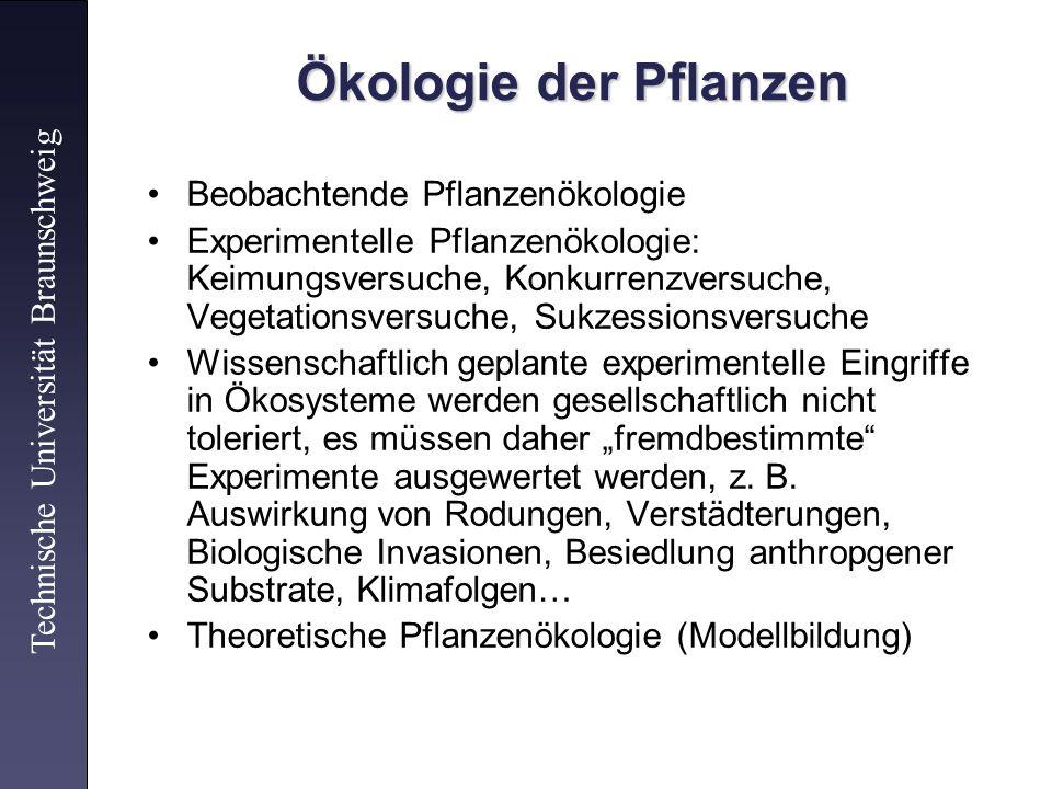 Beobachtende Pflanzenökologie Experimentelle Pflanzenökologie: Keimungsversuche, Konkurrenzversuche, Vegetationsversuche, Sukzessionsversuche Wissensc