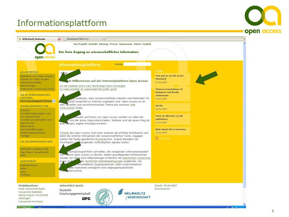 8 Anja Kersting, Bibliothek der Universität Konstanz Informationsplattform