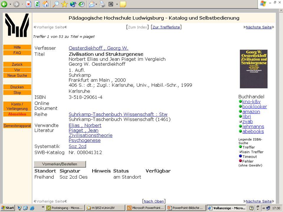 BSZ VdB-Fortbildung 5.7.04 9