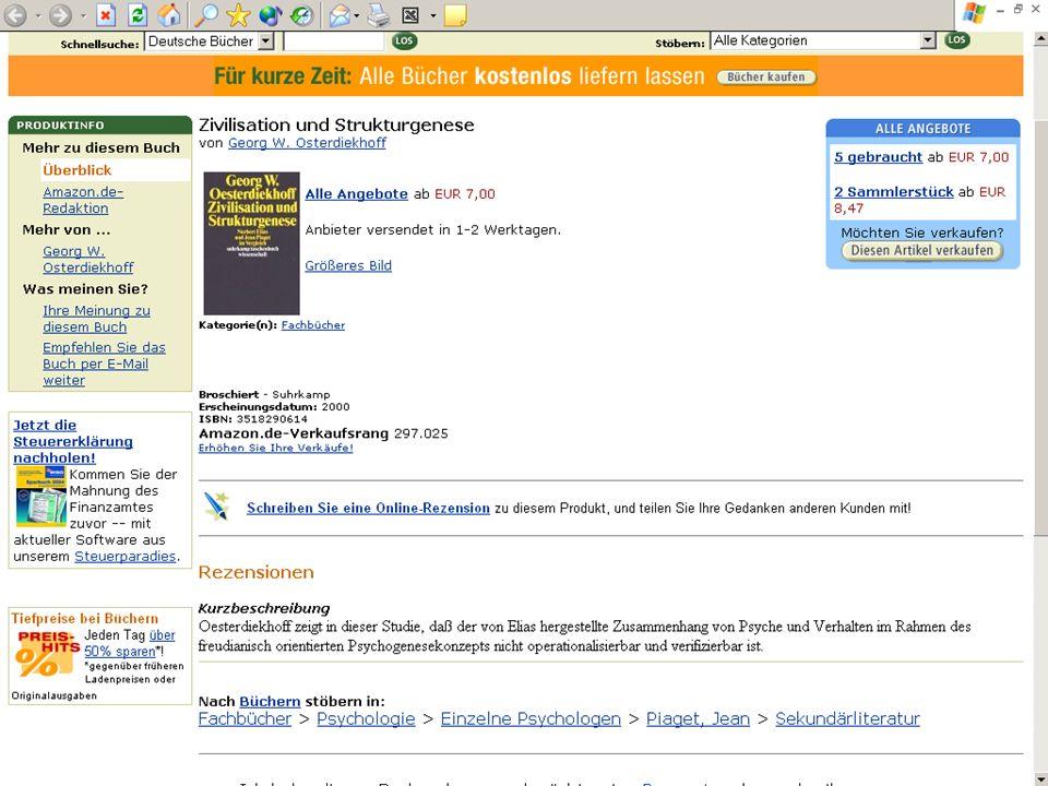 BSZ VdB-Fortbildung 5.7.04 10 Link zum Buchhandel BSZ zvab amazo n lehmann s kno- k&v abebook s ISBN OPAC