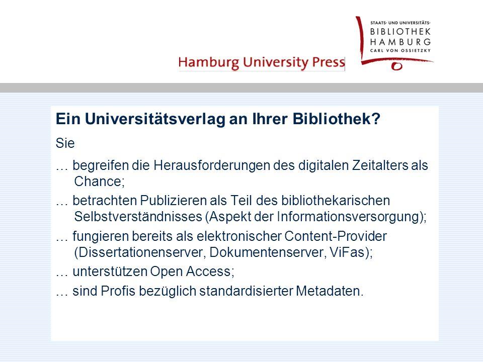 Ein Universitätsverlag an Ihrer Bibliothek.
