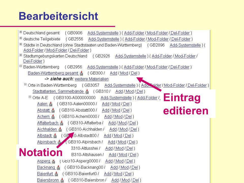 Bearbeitersicht NotationEintrag editieren
