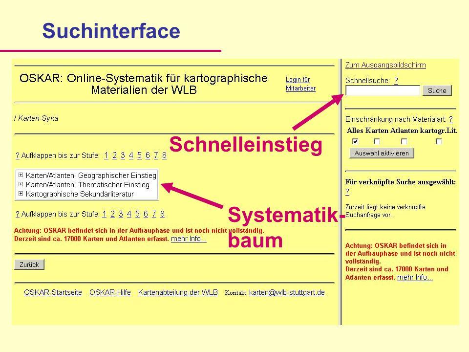 SuchinterfaceSystematik- baum Schnelleinstieg