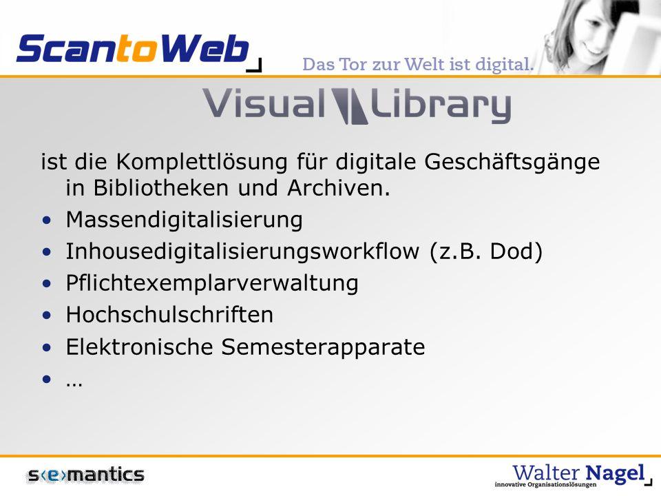ist die Komplettlösung für digitale Geschäftsgänge in Bibliotheken und Archiven.
