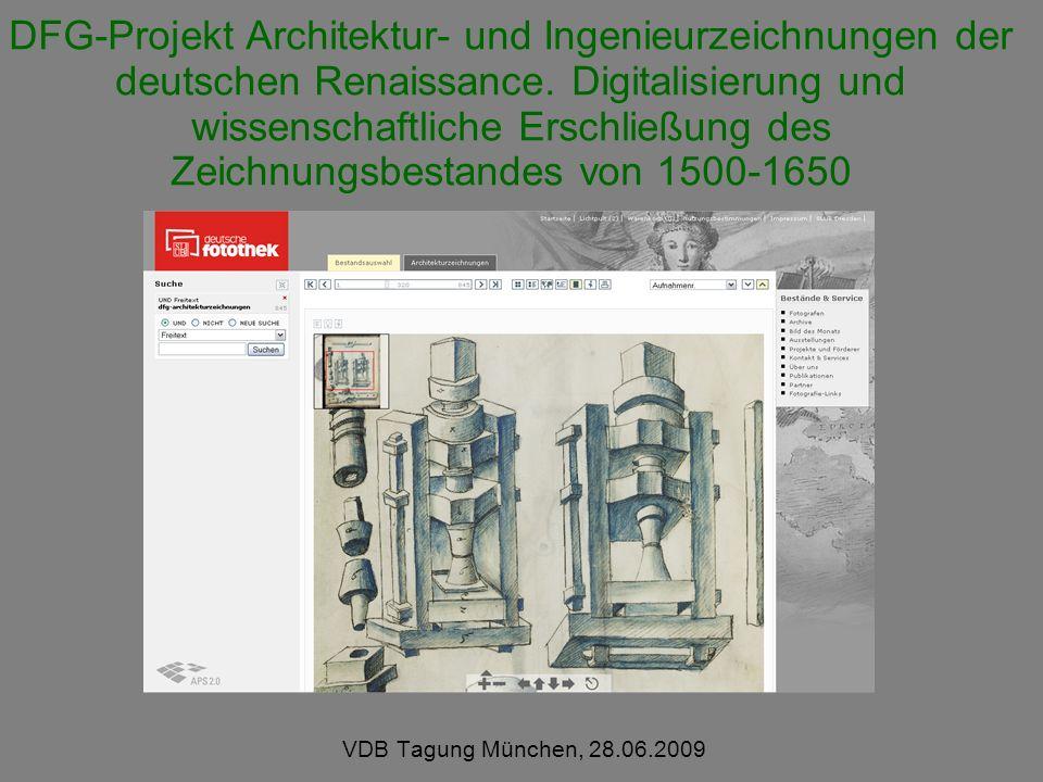 DFG-Projekt Architektur- und Ingenieurzeichnungen der deutschen Renaissance.