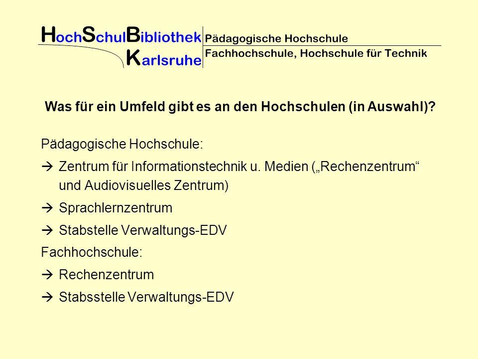 Pädagogische Hochschule: Zentrum für Informationstechnik u.