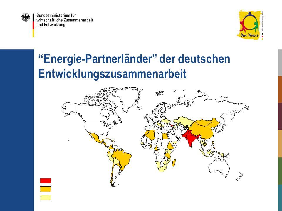 Energie-Partnerländer der deutschen Entwicklungszusammenarbeit